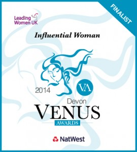 Tania West finalist in Devon Venus Influential Woman Awards 2014