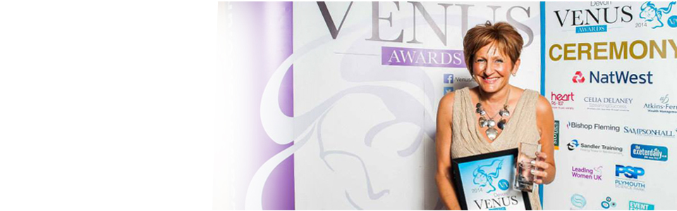 Tania West Winner for Devon Venus Women of the Year Award